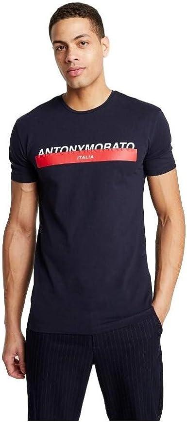 Antony Morato Camiseta Logo Marino Hombre x-Large Azul ...