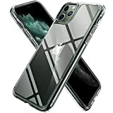 【Spigen】 iPhone 11 Pro ケース 5.8インチ 対応 全面 クリア 9H 背面強化ガラス + TPUバンパー 三層構造 米軍MIL規格 耐衝撃 透明カバー 衝撃吸収 四隅滑り止め カメラ保護 Qi充電 ワイヤレス充電 クォーツ・ハイブリッド 077CS27237 (クリスタル・クリア)