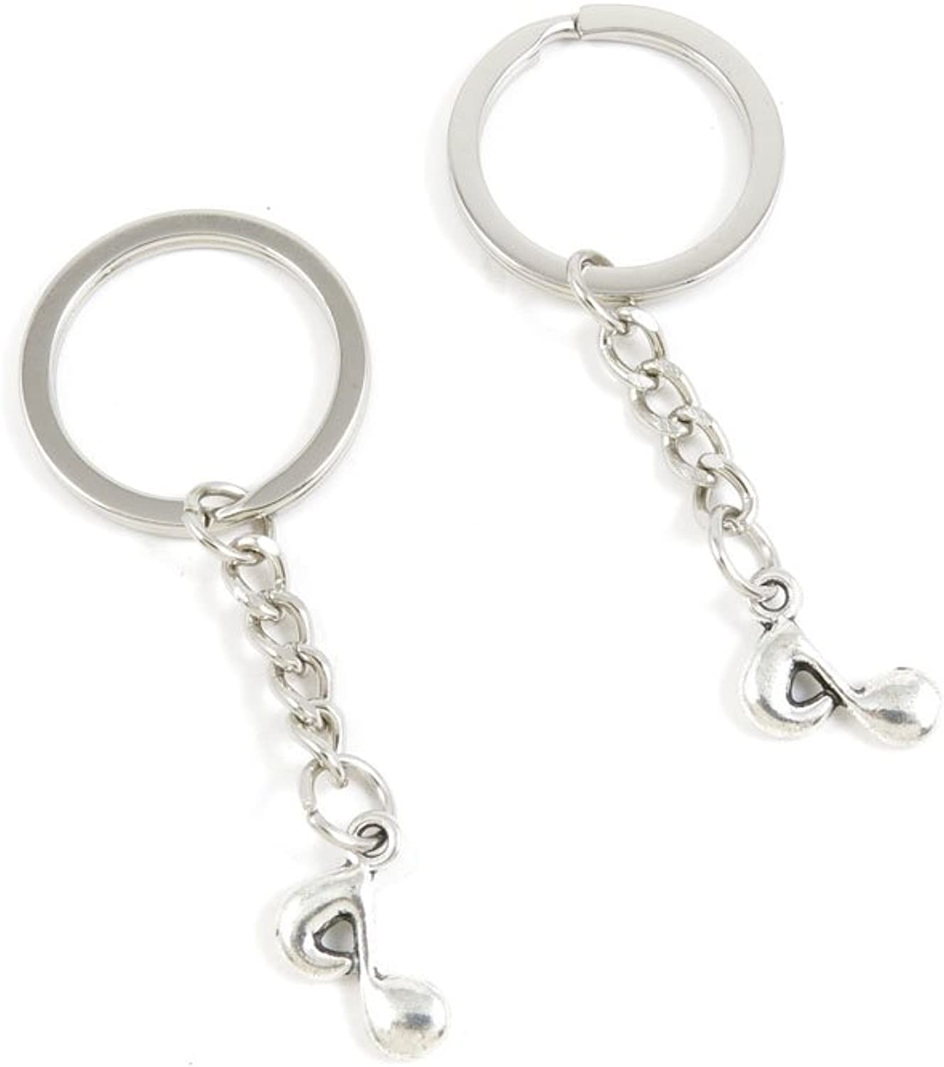 240 Pieces Fashion Jewelry Keyring Keychain Door Car Key Tag Ring Chain Supplier Supply Wholesale Bulk Lots O7AE8 Music Note