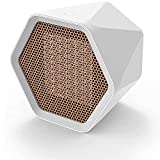 ZLZNX Calefactor Ventilador Hexagonal de Escritorio 3 Segundos Calentador de Aire Caliente Protección contra Sobrecalentamiento Ajustable para el Hogar y la Oficina,Blanco