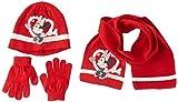 Disney Conjunto 3 PCS Bufanda + Guantes + Gorro Minnie Corbata, RED, 54 para Niños