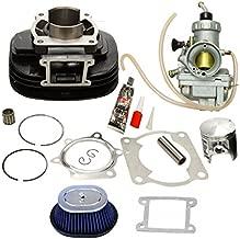 BLACKHORSE-RACING Cylinder Carburetor Piston Gasket Top End Kit Set Rebuild Kit Compatible with Yamaha Blaster 200 YFS200 1988-2006, Replaces# 2XJ-11311-02-00 5VM-14101-00-00