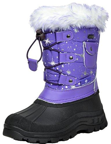 DREAM PAIRS Little Kid Ksnow Purple Isulated Waterproof Snow Boots - 3 M US Little Kid