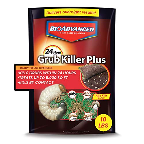 BioAdvanced 700740M 24-Hour Grub Plus for Lawns Ant, Tick, and Insect Killer, 10-Pounds,...