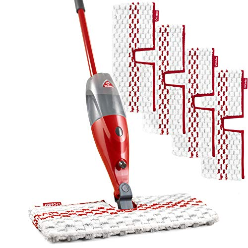 O-Cedar ProMist MAX Microfiber Spray Mop with 4 Extra Refills, Red