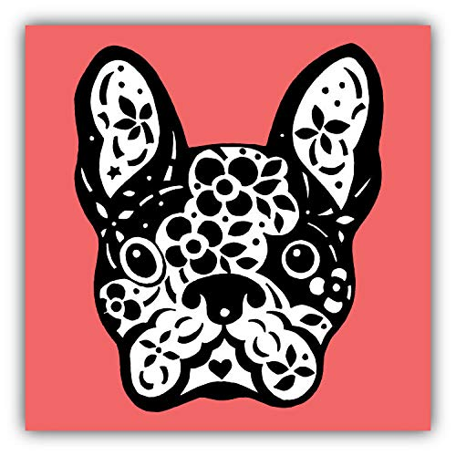 JJH Inc French Bulldog Sugar Skull Vinyl Decal Sticker Waterproof Car Decal Bumper Sticker 5'