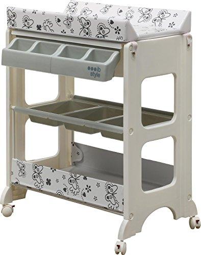 IB-Style - Table à langer avec baignoireà roullettes - 11 décors différents - Matelas Commode...