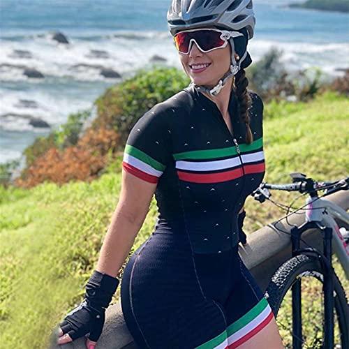 Traje de ciclismo para mujeres, con gel Pad, equipo transpirable, triatlón, triatlón, juego de bicicletas de montaña, juego de ciclismo. (Color : 2, Size : XXXX-Large)