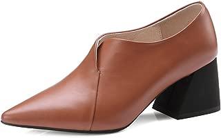 Nine Seven Women's Leather PointToe Heel Pump