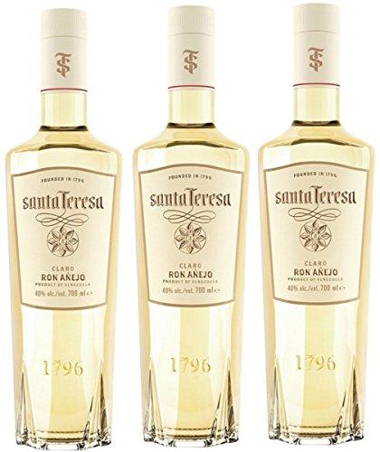 Santa Teresa Santa Teresa Ron CLARO 40% Vol. 0,7l - 3 Paquetes de 700 ml - Total: 2100 ml