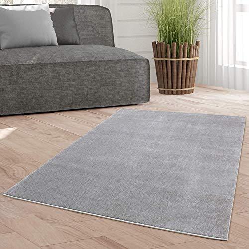 Taracarpet Weicher Kurzflor Designer Teppich modern für Wohnzimmer, Schlafzimmer, Kinderzimmer und Arbeitszimmer grau 120x170 cm