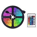 Tira de luces led que cambian de color - Set de luces RGB, con mando a distancia, ideal para habitación, hogar, cocina, fiestas