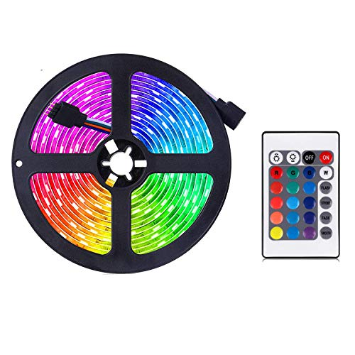 LED Strip, LED Strip Colour Changing LED Fairy,RGB Light Strip Set with Remote Control Ideal for Room, Home, Kitchen, Parties (2m)