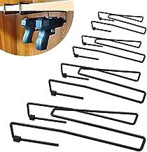 StrongTools Handgun Hanger, Pistol Rack for Gun Safe Shelf or Bookshelf, Pistol Organizer for Displays and Cabinet (4 Packs for 8 Guns)