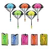 Sinwind Fallschirm Spielzeug Kinder, 5 Stück Kinder Hand werfen Fallschirm, Outdoor Flugspielzeug für Kin