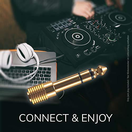 Sony MDR-1AM2 Kopfhörer (High Resolution Audio, Beat Response Control) schwarz & Oehlbach i-Jack AD 35/63 - Stereo Audio-Adapter 3,5mm Klinken-Buchse auf 6,3mm Klinken-Stecker - 1 Stück