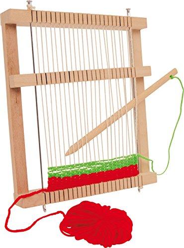6889 Telaio compatto small foot in legno, incl. pettine reversibile e gomitoli in lana, a partire dai 6 anni di età