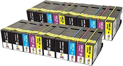 PGI-1500XL TONER EXPERTE® 20 XL Druckerpatronen kompatibel für Canon MAXIFY MB2350 MB2750 MB2755 MB2050 MB2150 MB2155 9182B001 9193B001 9194B001 9195B001   hohe Kapazität