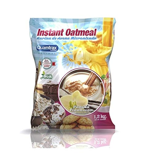 Quamtrax Instant Oatmeal   Harina de Avena 1,2 kg   Vainilla Canela