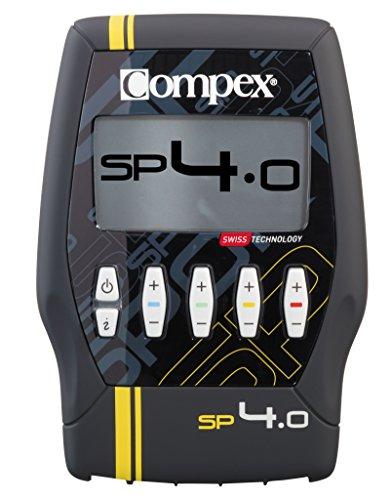 Compex SP 4.0 Elettrostimolatore, Nero con Banda Gialla