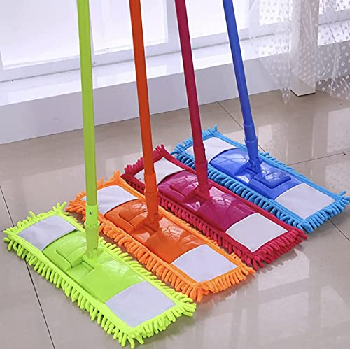 ANRE Free MOP Head Extendable Microfibre Mop Cleaner Sweeper Wooden...