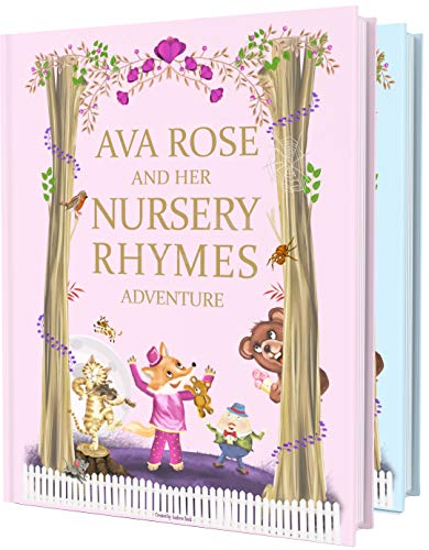 Book of Personalised Nursery Rhymes and Modern Poems for Baby and Child - Birthday, Baptism Gift