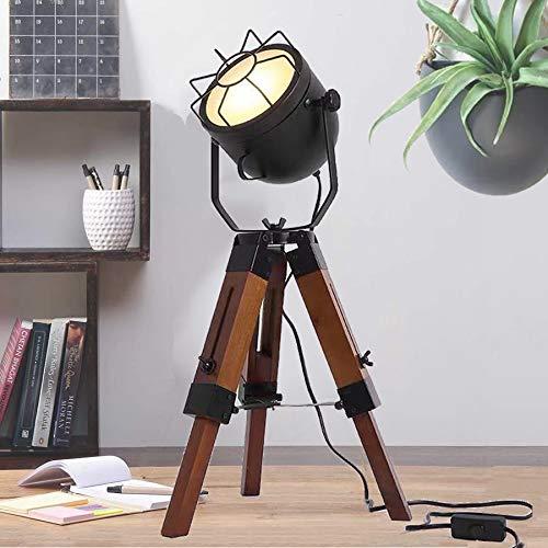 Adjustable Vintage Tripod Floor Lamp