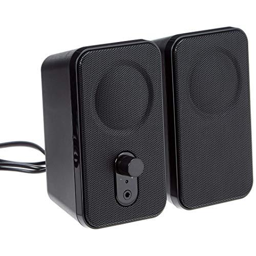Amazon Basics – Altavoces para ordenador de sobremesa o portátil, con alimentación por CA, versión para la UE