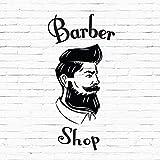 Insegna adesiva in vinile per palo da barbiere da uomo o per vetrina di salone di acconciatura maschile