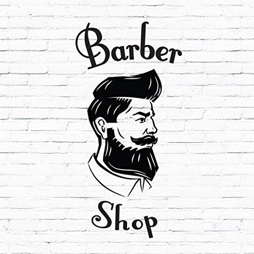 Barberos Shop señorías signo de vinilo de peluquería Peluquería Cabello ventana letras adhesivo