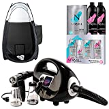 Naked Sun Black Fascination Spray Tan Machine and Norvell Sunless Airbrush Tanning Solution with Disposable...