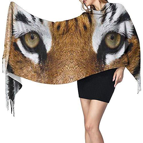 Niet toepasbare schattige tijgerprint cashmere sjaal dames casual warme sjaal wrap sjaal groot