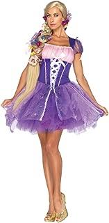 Womens Sweet Purple Peasant Rapunzel Disney Halloween Themed Costume, S (4-6)