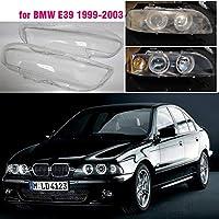 車のヘッドライトカバーシェル 車のフロントヘッドライトレンズカバーフィット感のためBMW E39 5 1999 2000 2001 2002ガラスオートシェルヘッドライトランプシェード透明オートパーツ