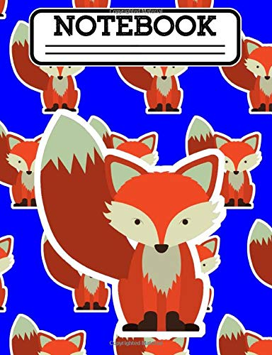 Notebook: Baby Fox Kawaii Boys & Girls Composition Notebook Cute Anime Hipster Animal 200 Pages 100 Sheets 7.44