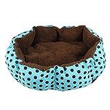 LOSVIP Winter Heimtierbedarf Weiche Fleece Haustier Hund Welpe Katze warmes Bett Haus Plüsch gemütliche Nest Mat Pad(Blau,36x30cm)