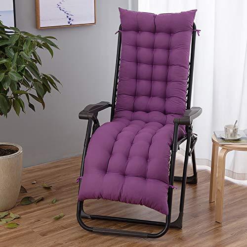 KTYRONE Sun Lounger Chair Cushions Thick Patio Chaise Lounger Cushion Reclining Chair for Indoor Outdoor Garden Non Slip Lounger Chair Cushions,Purple,48x160cm(19x63inch)
