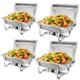 SUPER DEAL 8 Qt Stainless Steel 4 Pack Full Size Chafer Dish w/Water...