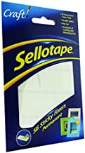 Sellotape Sticky Fixers Double-sided 12x25mm 56 Pads Ref 1445423 [Pack of 12]