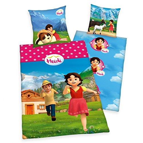 Arle-Living Kinder Bettwäsche Garnitur : Heidi 135x200 80x80 cm Renforcé