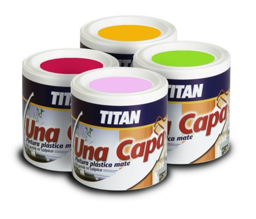 Titan - Pintura Plstica Mate Lila Titan Una Capa 750 Ml