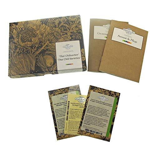 Chiles tailandeses - kit de semillas regalo con 3 variedades ultra-picantes