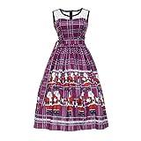 OPALLEY Weihnachtenkleid Damen Elegant Abendkleid Vintage Weihnachten Party Kleid Mesh Brautkleid...