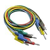 Sharplace 5X Cordons de Teste 4mm Câble Banane Fiche À Banane Fiche Testeur Clip Probe Multimètre