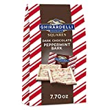 Ghirardelli Dark Chocolate Peppermint Bark Squares, Holiday Candy Christmas Gift, Peppermint Bark...