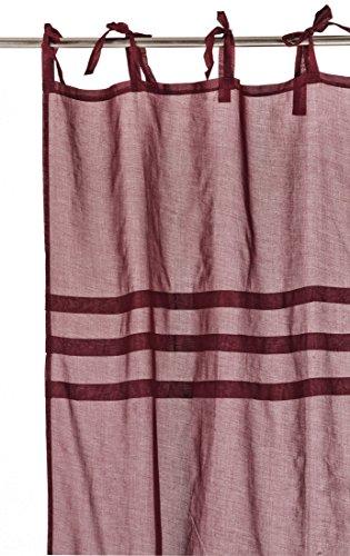 Home Stories 40603 Chic Voilage Nouette Trois Plis Coton Rouge 140 x 260 cm