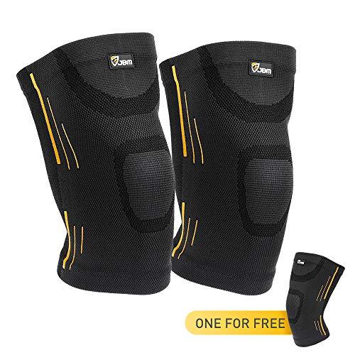 JBM Adults GYM Knee Brace Support Compression Sleeve Patella Wrap Band Knee...