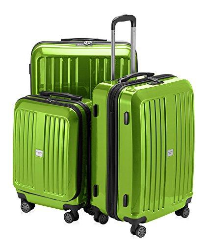 HAUPTSTADTKOFFER - X-Berg - 3er Koffer-Set Koffer Trolley Hartschalenkoffer, TSA (S, M, L ), Apfelgrün