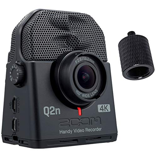 Zoom Q2n-4K - Registratore audio e video Ultra HD + adattatore per treppiede Keepdrum