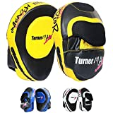 TurnerMAX–Juego de Boxeo Focus Almohadillas, Gancho y Jab Pads, Kick Almohadillas,...